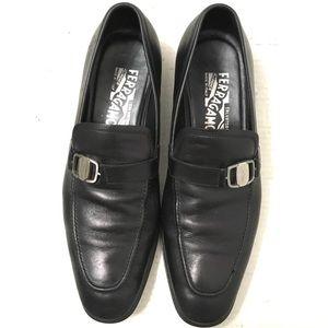 Salvatore Ferragamo Men's Black Rain Lux Shoes